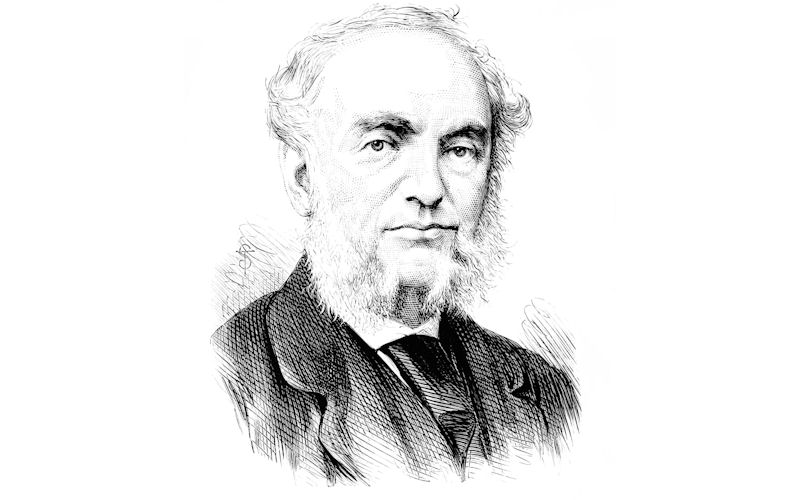 A black and white image of Balfour Stewart, 1st Langworthy Professor