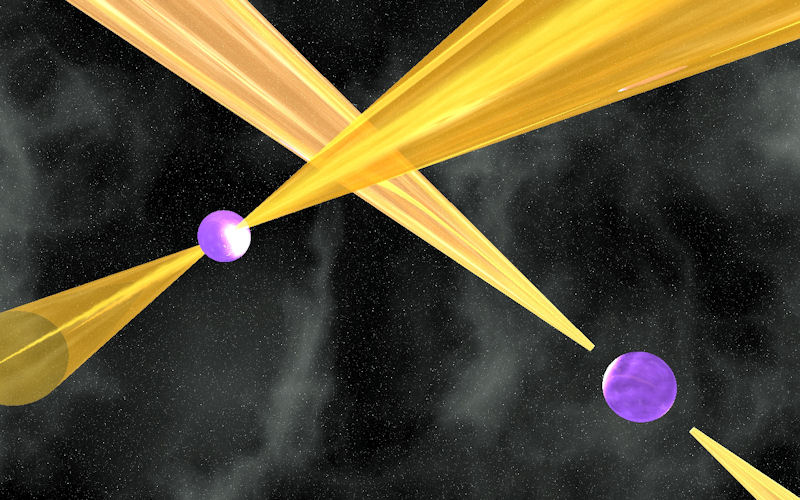 Artist's impression of the Double Pulsar System.