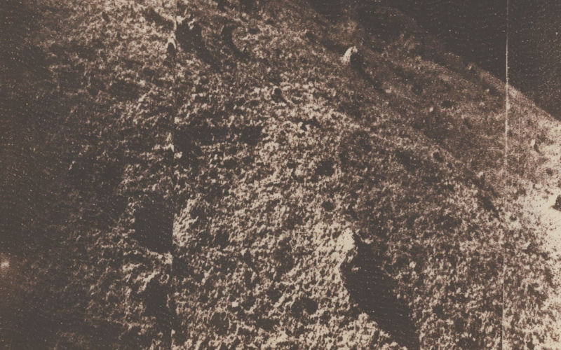 he first picture of the lunar surface taken by Luna 9 and received at Jodrell Bank.