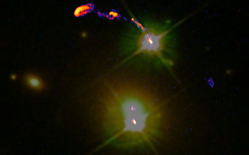 An image of a Double Quasar.