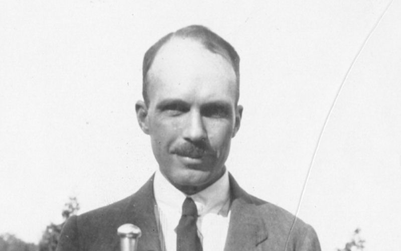 A black and white photograph of William Lawrence Bragg, 4th Langworthy Professor