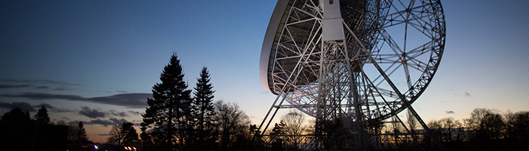 The Lovell Telescope by night